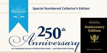 Banner for Encyclopaedia Britannica 250th Anniversary Edition