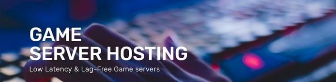 Banner advertising game server hosting
