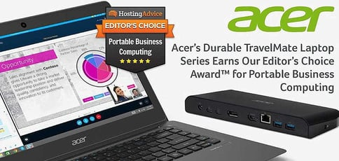 Acer's Durable TravelMate Laptop Series Earns Our Editor's Choice Award™ for Portable Business Computing