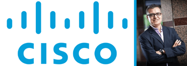 Cisco logo and photo of Ed Jimenez
