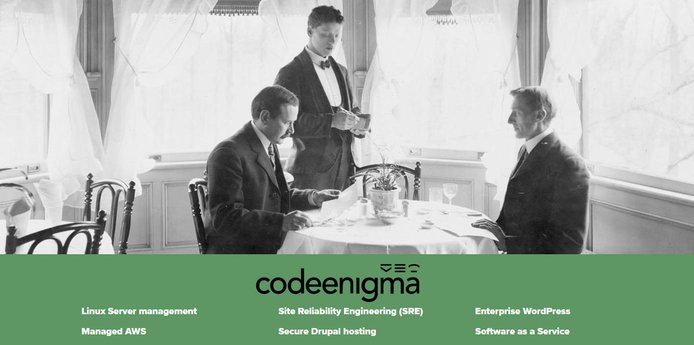 Photo depicting hosting a dinner party with a list of Code Enigma web hosting services