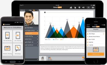 Screenshot of GlobalMeet across devices