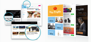 Screenshot of StackCommerce sponsored content and marketing tools