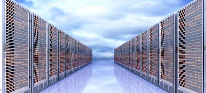 Illustration of cloud servers