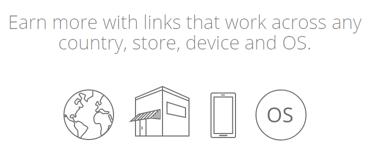 Screenshot from the GeniusLink homepage