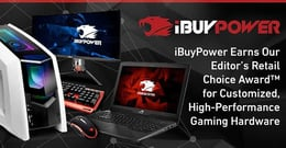 iBuyPower Earns Our Editor's Choice Award™ for Customized, High-Performance Gaming Hardware