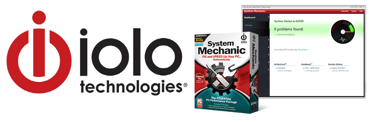 Collage of iolo technologies logo and System Mechanic