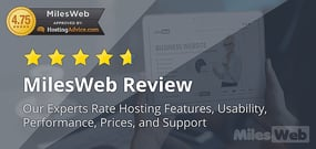 MilesWeb Review (2020): Experts Rate Hosting Features, Usability, Performance, Prices, and Support