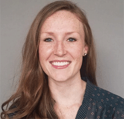 Portrait of Samantha Patterson, Marketing Manager for PrintingForLess