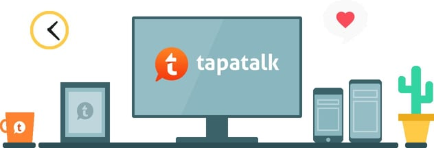 Graphic of Tapatalk logo on various devices
