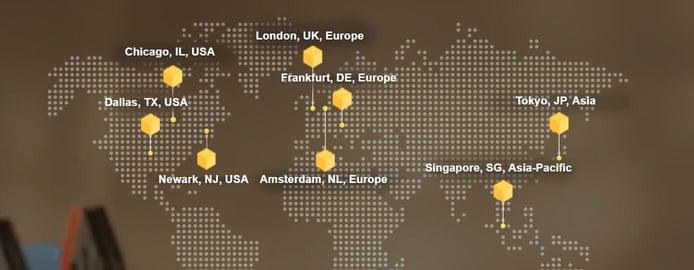 Graphic of FastComet's datacenters