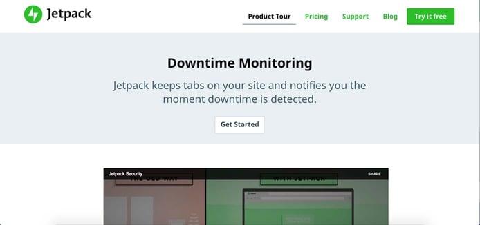 Screenshot of Jetpack