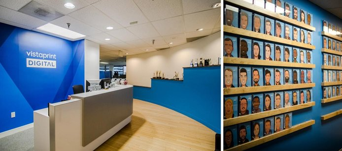 Images of the Vistaprint office