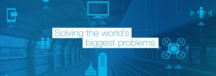 """Graphic reading """"solving the world's biggest problems"""""""