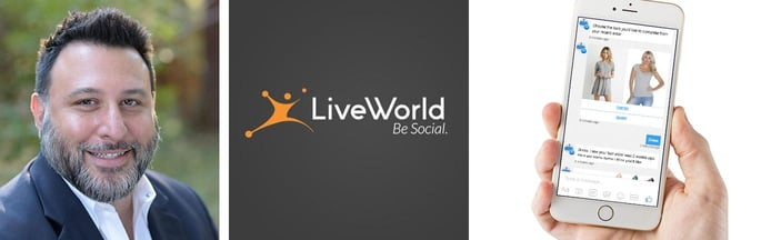Image of Jason Kapler with LiveWorld logo and image of a hand holding a cellphone