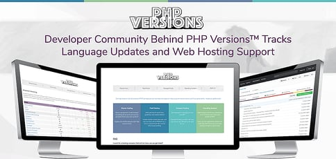 Developer Community Behind PHP Versions™ Centralizes Information on Language Updates and Web Hosting Support