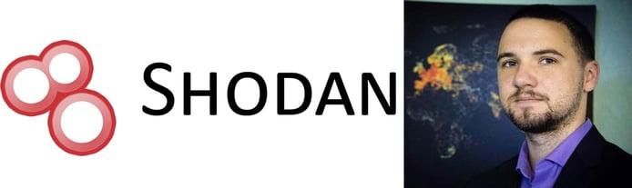 Image of John Matherly with the Shodan logo