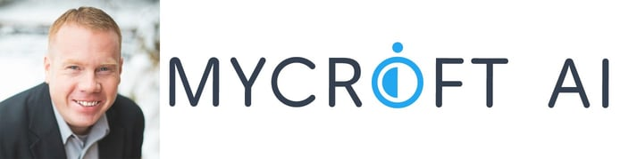 Joshua Montgomery, CEO, and Mycroft logo