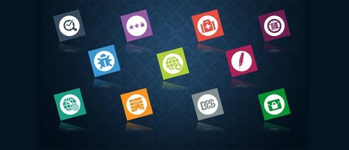 Icons representing plugins