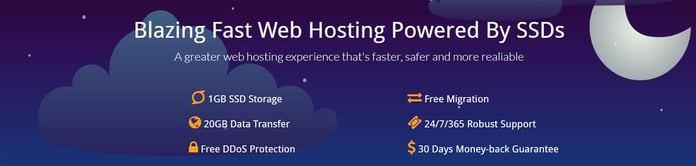 Banner depicting EzzyTech's SSD-based shared hosting solutions