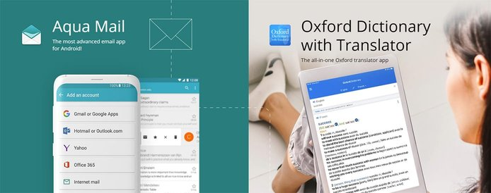 Aqua Mail and Oxford Dictionary with Translator
