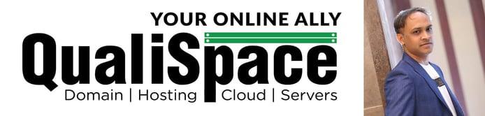 QualiSpace logo and photo of Yatin Shah, Strategic Manager at Trunkoz Group