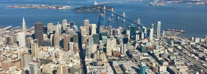 Aerial view of downtown San Francsisco