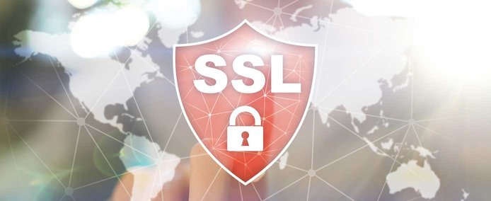 Illustration with finger pressing on SSL badge