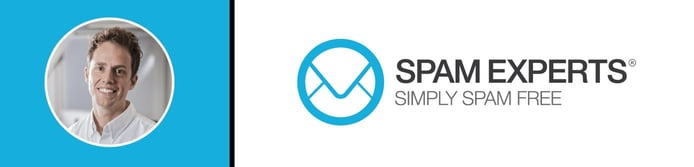 SpamExperts CEO Sam Renkema and company logo