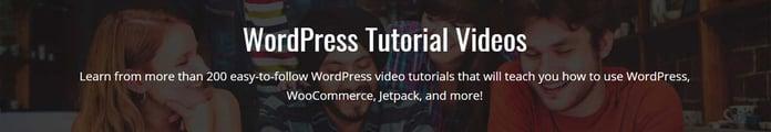 WP101 tutorial video banner