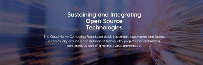 """Banner reading """"Sustaining and Integrating Open Source Technologies"""""""