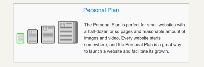 Screenshot of Personal Plan summary