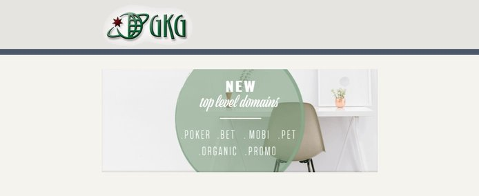 Screenshot of GKG website
