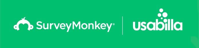 SurveyMonkey and Usabilla logos