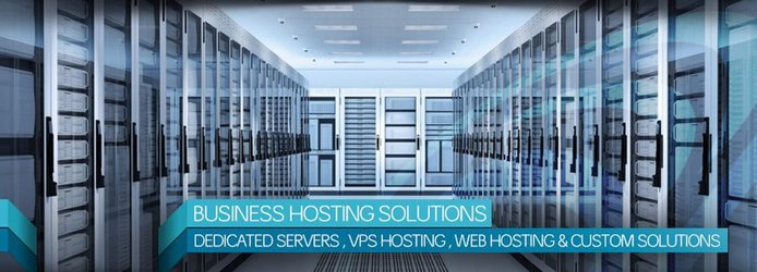 Business hosting solutions: Dedicated servers, VPS hosting, web hosting and custom solutions