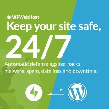 Screenshot of WPWebHost security ad