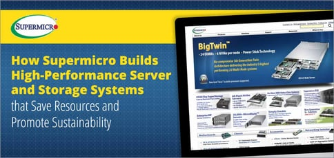 Supermicro Sustainable Servers Save Money