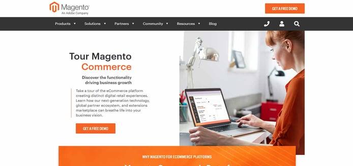 Screenshot of Magento