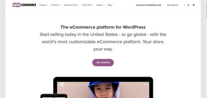 Screenshot of WooCommerce