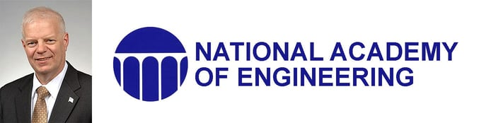 Al Romig, Executive Officer at the National Academy of Engineering (NAE), and logo