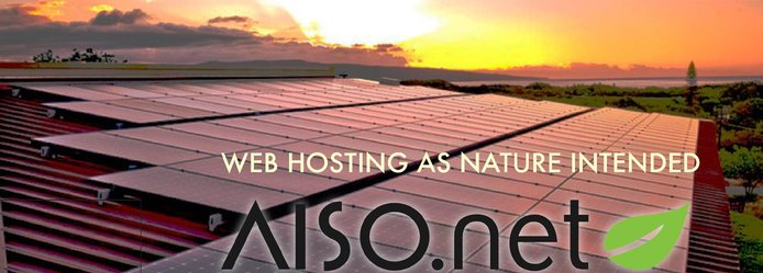 Sunset with AISO logo