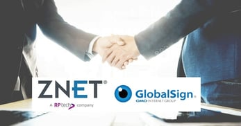 ZNetLive and GlobalSign partnership banner