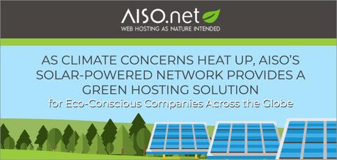 Aiso Provides Solar Powered Green Hosting