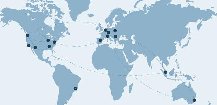 Screenshot of phoenixNAP global locations