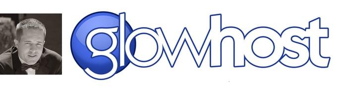 GlowHost logo and Founder Matt Lundstrom