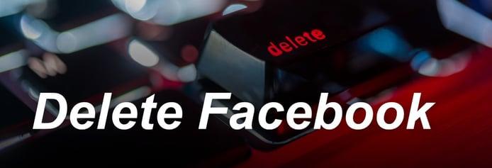 Delete Facebook logo