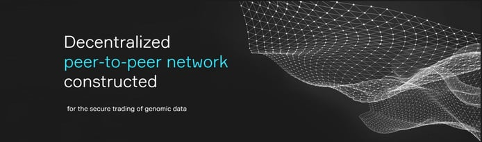Decentralized peer-to-peer network constructed for the secure trading of genomic data