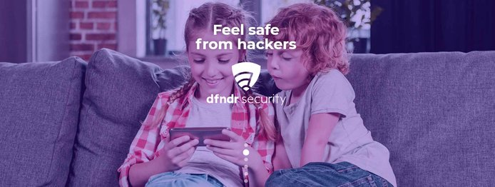 Feel safe from hackers with dfndr security