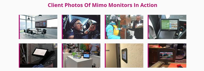Client photos of Mimo Monitors in action