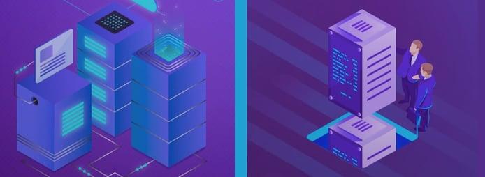 Graphics depicting Hostimul servers
